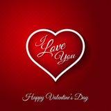 14 de fevereiro cartão feliz do dia de Valentim Imagens de Stock Royalty Free