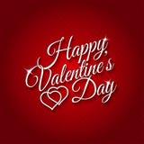 14 de fevereiro cartão feliz do dia de Valentim Fotos de Stock Royalty Free