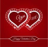 14 de fevereiro cartão feliz do dia de Valentim Imagem de Stock