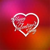 14 de fevereiro cartão feliz do dia de Valentim Fotos de Stock