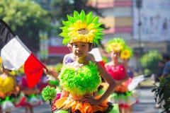 27 de fevereiro de 2015 Baguio, Filipinas Baguio Citys Panagbenga F Imagem de Stock