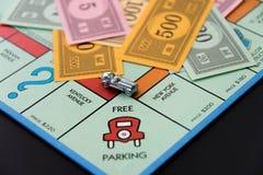 8 de fevereiro de 2015: Houston, TX, EUA Carro do monopólio em Parkin livre Imagem de Stock Royalty Free