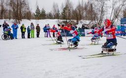 11 de fevereiro de 2017 maratona 2017 anual do esqui de Nikolov Perevoz Russialoppet da raça de esqui da propriedade da arte-Vere Imagens de Stock