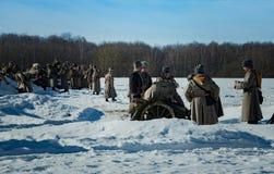 26 de fevereiro de 2017 o feriado de Maslenitsa em Borodino Imagem de Stock