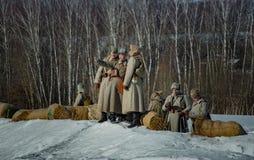 26 de fevereiro de 2017 o feriado de Maslenitsa em Borodino Foto de Stock