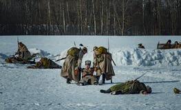 26 de fevereiro de 2017 o feriado de Maslenitsa em Borodino Fotografia de Stock Royalty Free