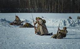 26 de fevereiro de 2017 o feriado de Maslenitsa em Borodino Imagens de Stock