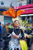 7 DE FEVEREIRO DE 2016 - PARIS: Carnaval tradicional de fevereiro em Paris, França Foto de Stock