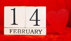 14 de fevereiro fundo Fotografia de Stock Royalty Free