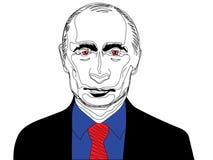 25 de fevereiro de 2019 Ilustração do estoque do vetor de um retrato do presidente Vladimir Putin