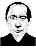 26 de fevereiro de 2019 Ilustração do retrato do presidente Vladimir Putin