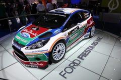 De Fiesta RS WRC van de doorwaadbare plaats bij IAA Stock Foto's