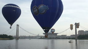 De Fiesta van de hete Luchtballon stock video