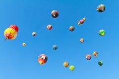 De fiesta van hete luchtballons stock fotografie