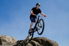 De fiets extreme truc Stock Foto