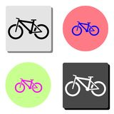 De fiets van de berg Vlak vectorpictogram stock illustratie