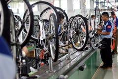 De fiets van de assemblagefiets van Indonesië royalty-vrije stock foto