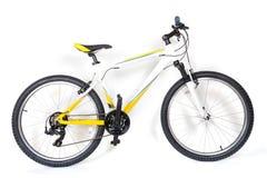 De fiets van de berg op witte achtergrond Royalty-vrije Stock Foto
