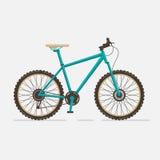 De fiets van de berg op witte achtergrond Royalty-vrije Stock Fotografie