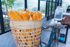 De fiets van de graanmand Royalty-vrije Stock Foto's