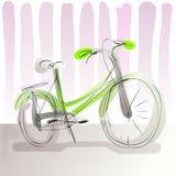 De fiets van de krabbelpastelkleur Royalty-vrije Stock Afbeelding