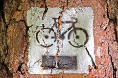 De fiets van de verf stock foto's