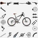 De fiets van de volledig-opschortingsberg stock illustratie