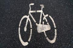De fiets van het asfalt Stock Afbeelding