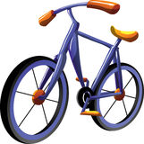 De fiets van het beeldverhaal Stock Foto