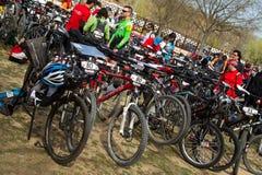 De fiets van het parkeren Royalty-vrije Stock Afbeelding