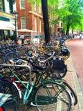 De fietsen van Amsterdam Royalty-vrije Stock Fotografie