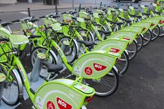 De fietsen van Boedapest Stock Foto
