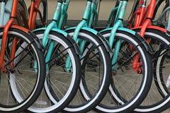 De fietsen van de huur Stock Afbeelding