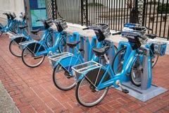 De fietsen van het fietsaandeel in Philadelphia stock foto
