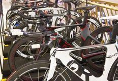 De fietsen van Quintanaroo op vertoning. Stock Foto's