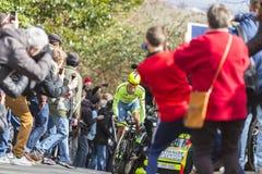 De Fietser Alberto Contador - Parijs-Nice 2016 Royalty-vrije Stock Foto's