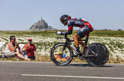 De fietser Amaël Moinard Stock Afbeelding