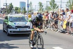 De Fietser Arnaud Gerard - Ronde van Frankrijk 2015 Royalty-vrije Stock Afbeelding