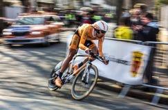 De fietser Astarloza Mikel Parijs Nice 2013 Prolo Stock Foto