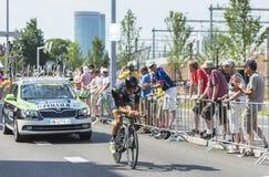 De Fietser Brice Feillu - Ronde van Frankrijk 2015 Royalty-vrije Stock Foto