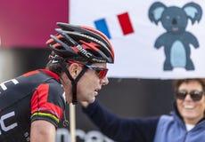 De fietser Cadel Evans stock fotografie
