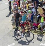 De Fietser Damiano Caruso op Col. du Glandon - Ronde van Frankrijk 20 stock fotografie