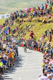 De Fietser Daniel Martin op Col. du Glandon - Ronde van Frankrijk 201 Royalty-vrije Stock Foto's