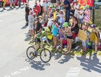 De Fietser Daniel Martin op Col. du Glandon - Ronde van Frankrijk 201 Stock Afbeeldingen
