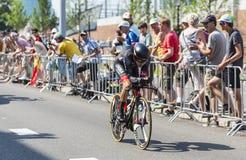 De Fietser Emanuel Buchmann - Ronde van Frankrijk 2015 Royalty-vrije Stock Foto's