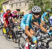 De Fietser Fabio Aru op Mont Ventoux - Ronde van Frankrijk 2016 Stock Foto's