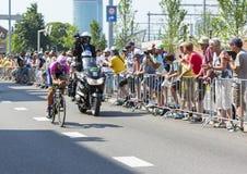 De Fietser Filippo Pozzato - Ronde van Frankrijk 2015 Royalty-vrije Stock Afbeelding