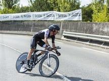 De Fietser Haimar Zubeldia - Ronde van Frankrijk 2014 Royalty-vrije Stock Afbeeldingen