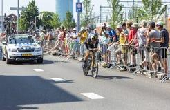 De Fietser Jacques Janse van Rensburg - Ronde van Frankrijk 2015 Stock Afbeeldingen