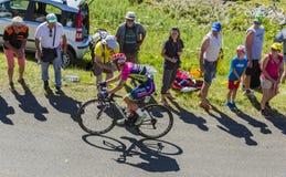 De Fietser Jan Polanc - Ronde van Frankrijk 2016 Royalty-vrije Stock Foto's